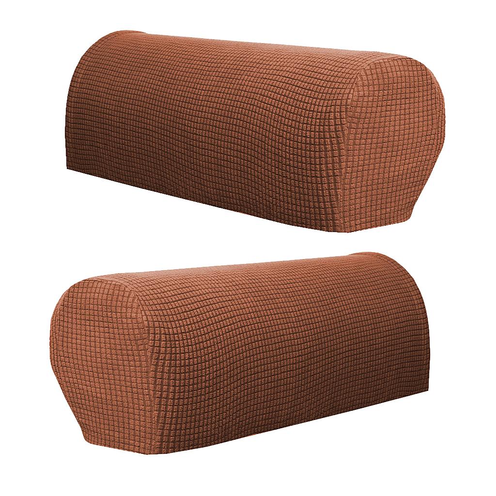 Set of 2 Premium Stretch Armrest Covers Slipcovers Fits Stretch Armrest Covers Sofa Arm Protectors Furniture Armrest Cover