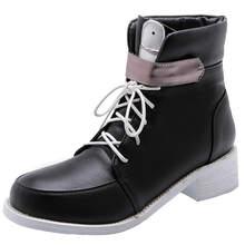 Karinluna 2019 Büyük Boy 48 moda en kaliteli eğlence cosplay tatlı Ayakkabı Kadın Botları Martin kadın ayakkabısı yarım çizmeler Kadın(China)