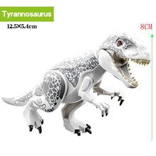 Legoing Парк Юрского периода Динозавр животные игрушки Фигурки наборы indominius rex Велоцираптор строительные блоки игрушки для детей подарок(China)