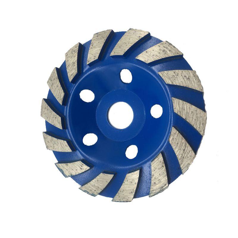 di/ámetro exterior 125 mm herramie disco de amoladora angular piedra granito Muela abrasiva de copa de diamante de doble hilera di/ámetro interior 22,2 mm para corte m/ás pesado de hormig/ón m/ármol