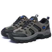 Moda erkek yürüyüş ayakkabıları sonbahar sıcak yürüyüş botları dağ tırmanma ayakkabıları açık kış spor erkekler Trekking Sneakers su geçirmez(China)