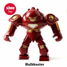 Maravilhas Big Hulk Vingadores hero Grande Anti Veneno IronMan Spiderman Carnificina modelo Blocos de Construção de Brinquedo tijolos Para Crianças(China)
