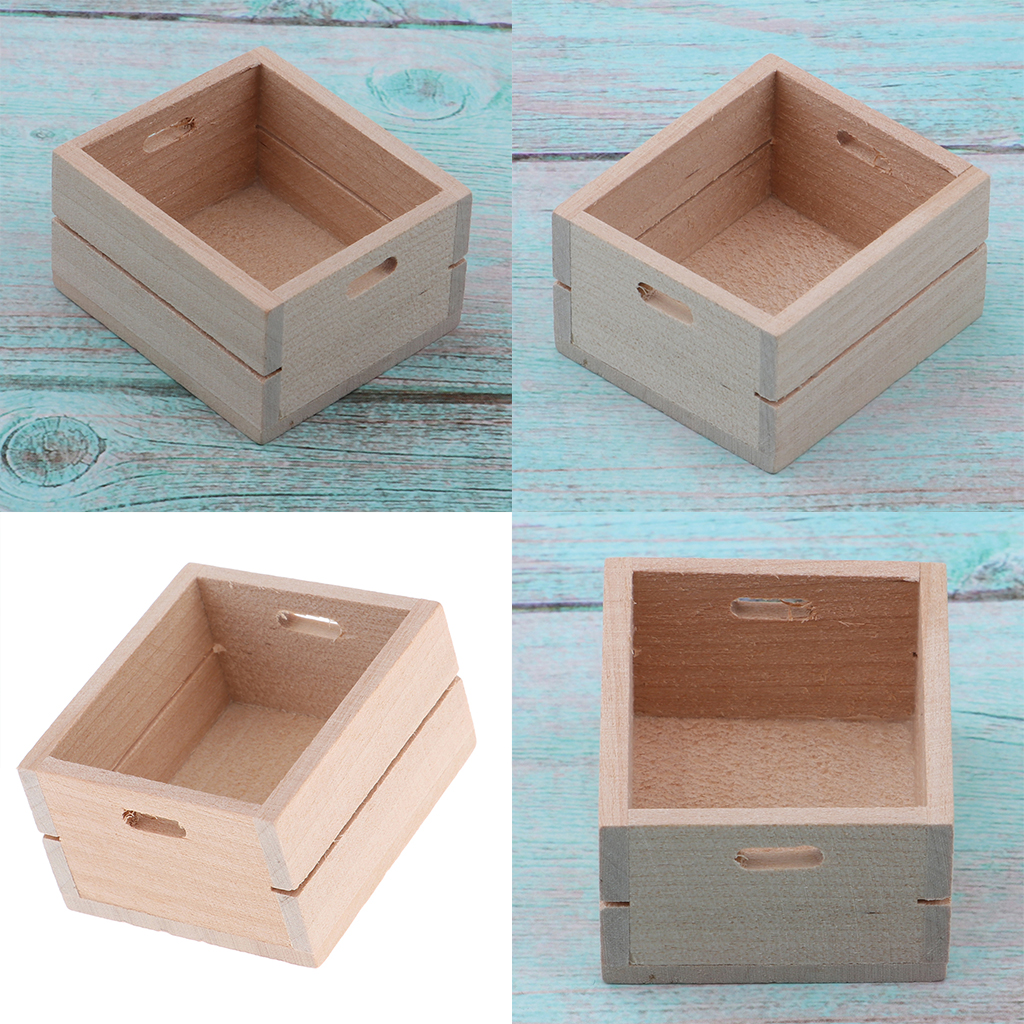 3pcs Miniature Vegetable Fruits Basket Container Accessories for 1:12 Scale Dollhouse and Kids Pretend Play Restaurant