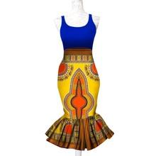 מסיבה אפריקאית דאשיקי נשים כותנה שעוות הדפסת לפרוע Bodycon ארוך חצאית אלגנטי Bazin Riche אנקרה גבירותיי חתונה בת ים חצאית(China)