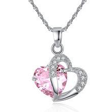 2019 gorących bubla najwyższej klasy mody serce Choker naszyjniki biżuteria kryształ nowe dziewczyny kobiety biżuteria(China)