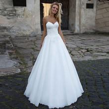 SoDigne сексуальное свадебное платье трапециевидной формы белое кружевное платье с аппликацией милое платье для невесты в стиле бохо свадебно...(China)