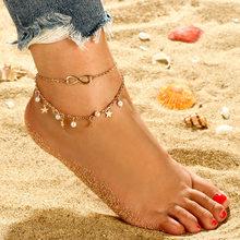 3 ピース/セットアンクレット女性の足のアクセサリー夏のビーチ裸足サンダル足首足に女性のための女性ギフト(China)