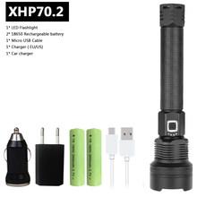 Xhp70.2 самый мощный светодиодный фонарик usb Zoom torch 18650 или 26650 фонарь с перезаряжаемым аккумулятором Z90 + 1907(China)