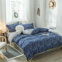 Green flower bedding set high quality reactive printing bedclothes 3/ 4pcs duvet cover + flat sheet + pillowcase winter pastoral(China)