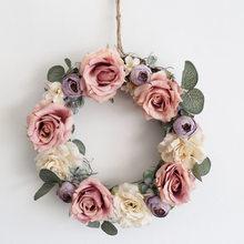 Свадебные свадебные венки двери украшения лес Моделирование цветы настенные украшения стены украшения сада(Китай)
