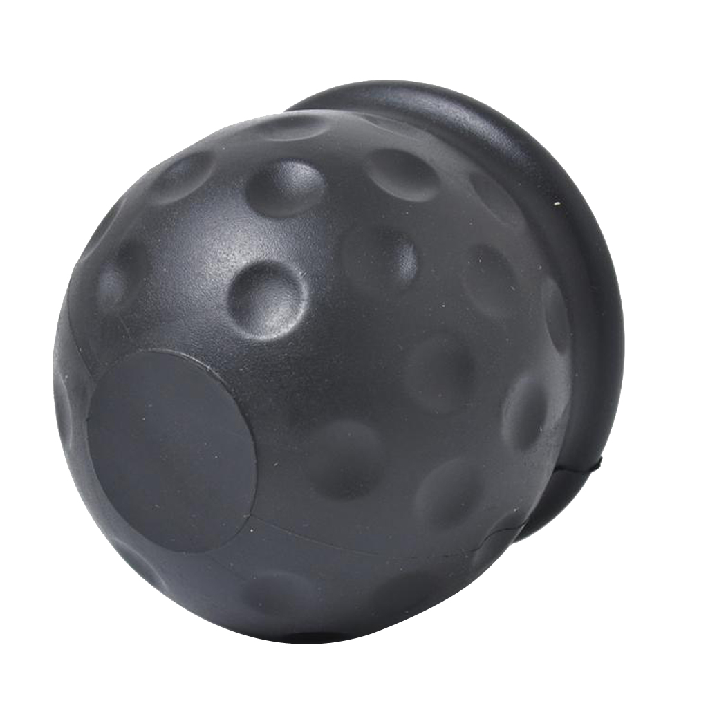 2 Inch Car Towbar Towball Cap Towing Protective Cover Soft PVC Simple Push-on Black