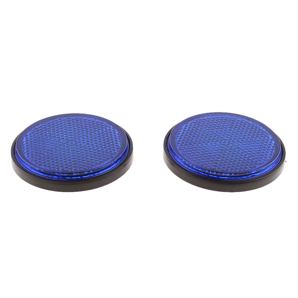 2 Pieces Round Reflectors Universal for Motorcycle Bikes ATV Dirt Bike