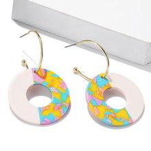 2019 Fashion statement metal earring large geometric ear jewelry gift drop earring Wedding Party Jewelry wholesale(China)