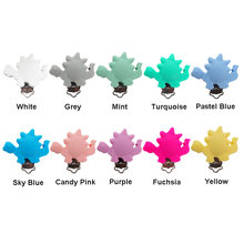 Chenkai 10PCS Round Bear Star Silicone Teether Clips DIY Baby Pacifier Dummy Chain Holder Soother Nursing Jewelry Toy Clips(China)