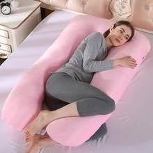 Sono apoio travesseiro para grávidas em forma de u almofadas para grávidas gravidez lado sleepers lavável almofada de dormir transporte da gota(China)