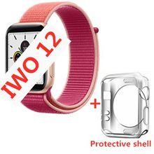 IWO 12 Bluetooth Смарт часы 1:1 SmartWatch 44 мм чехол для Apple iOS Android сердечного ритма ЭКГ IP68 Водонепроницаемый IWO 11 IWO 10 Обновление(China)