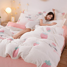 Yimeis Jacquard King Bed Set Flannel Bedding Set 3d 14 Colors Bed Linen Bedding Set Luxury(China)