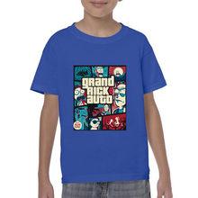 Rick ve Morty büyük Rick otomatik erkek Casual gömlek ev giyim çocuk tişörtleri kısa kollu Tee T Shirt pamuk burlon T Shirt marcelo(China)