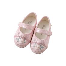 DBJ12881Dave Bella bahar bebek kız çocuklar için saten jakarlı çiçek ayakkabı çocuk marka ayakkabı(China)