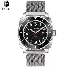 2019 جديد ساعة فاخرة الرجال الفولاذ المقاوم للصدأ عالية الجودة ساعة معصم الرجال الأزرق التقويم تاريخ الأعمال العسكرية ساعة 5Bar(China)