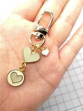 Nova Cor do amor do coração da menina adorável bonito Keychain Acessórios Chave Cadeias de Jóias Pingente de Presentes Favores(China)