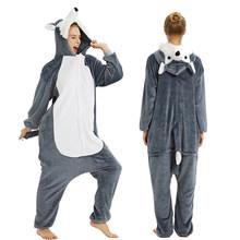 Killumi conejo adulto unicornio pijamas Animal ropa de dormir para Mujeres Hombres Onesie Cosplay anime disfraces invierno pijamas traje monos(China)