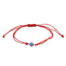 Czerwona nić Evil Eye Charms String Rope plecione bransoletki Lucky bransoletki robione ręcznie czerwony sznurek regulowany DIY biżuteria dla kobiet mężczyzn(China)