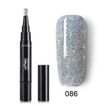 LEMOOC 5 мл 88 цветов гелевая ручка сверкающий однотонный гелевый карандаш отмачиваемый маникюрный УФ-Гель-лак для ногтей цветная ручка для диз...(China)