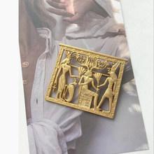 Aomu 2019 di Modo di Stile Barocco Specchio Magico Spilla a Forma di Retro Intagliato Del Fiore Del Metallo di Colore Dell'oro Spille Accessori Dei Monili(China)