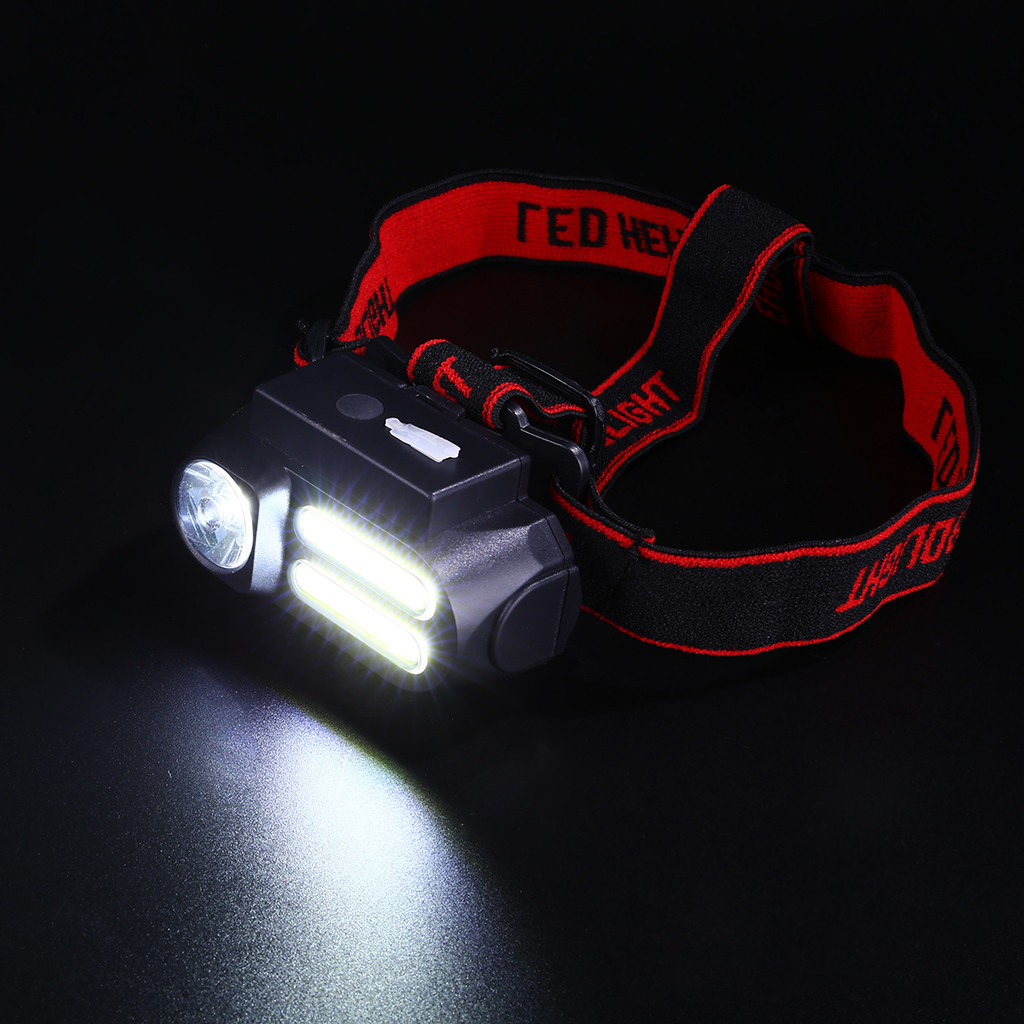 Practical T6+COB LED Torch 360° Rotating Flashlight  With 9900mAh 18650 Battery