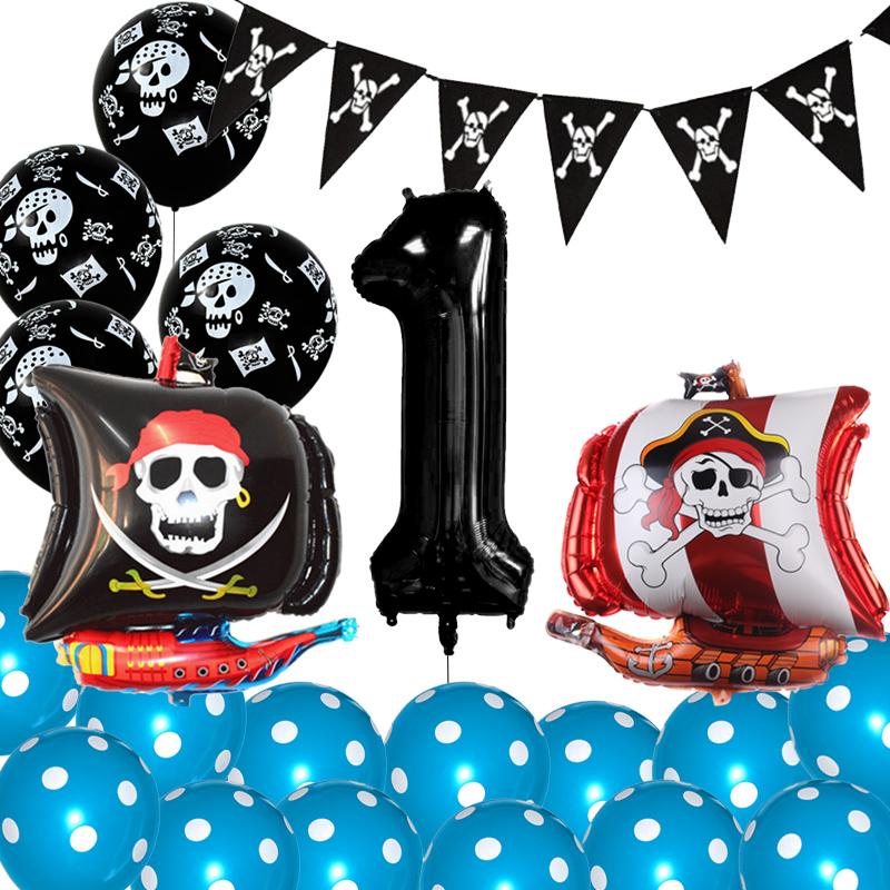 Skull Latex Balloons Pirate Decoration Skull Treasure Birthday Party Supplies