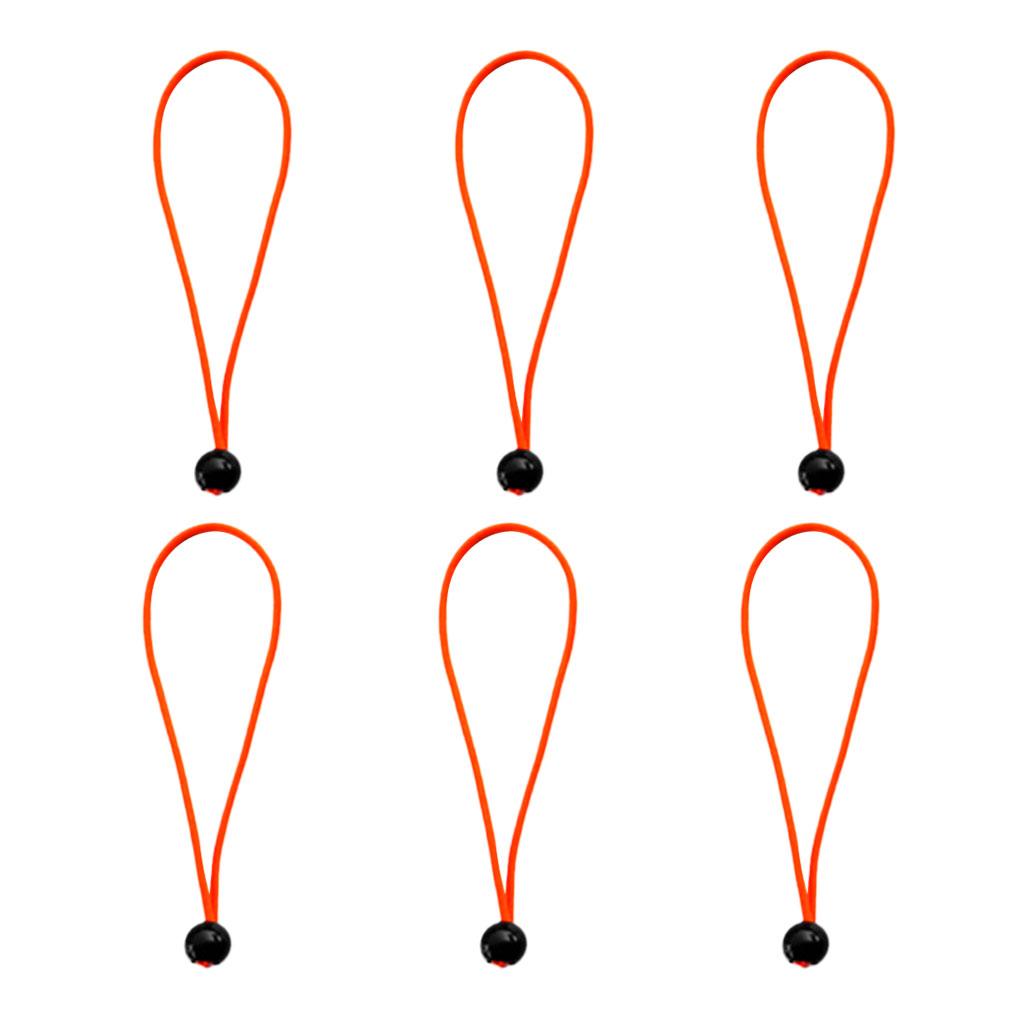 6pcs 5.9 inch Ball Anchor Tarp Tarpaulin Flag Pole Bungee Cord Ties Cord Ends Elastic Rope