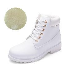 Mắt Cá Chân Giày Cho Nữ 2019 Thương Hiệu Mới Ủng Thời Trang Mùa Đông Ấm Áp Giày Cho Nữ Giày Gót Vuông Nữ Plus size 36-41(China)