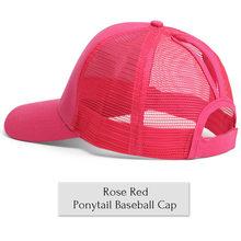 Beyzbol şapkası erkek kadın Glitter at kuyruğu ayarlanabilir dağınık topuz kapaklar siyah şapka kızlar rahat pamuk Snapback yaz örgü şapka(China)