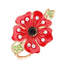 Souvenir Pernikahan Terbaik Wanita Perhiasan Bros Red Mountain Pro Berbagai Bunga Pin Acara Gaya Yang Indah Fashion Perhiasan(China)