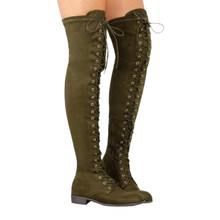 Cuissardes minces bottes sur le genou chaussures d'hiver femme bottes hautes au genou femmes chaudes bottes d'hiver femmes chaussures grande taille 43(China)