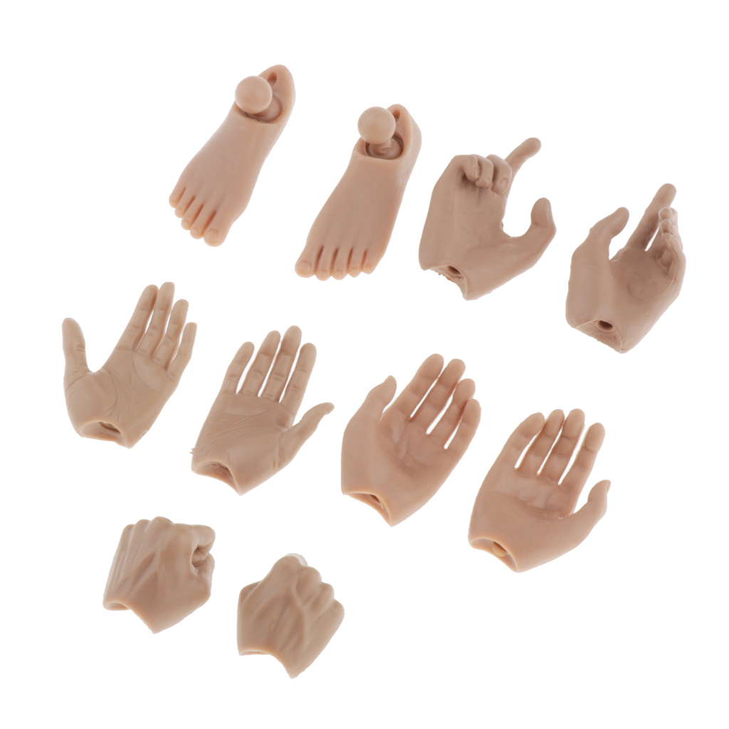 """Male Hand Model Worldbox 1//6  Three Type Shape For 12/"""" Man Action Figure Body"""