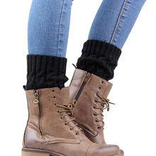 Womail 2019 Yeni Moda örme çorap Botları Sonbahar Ve Kış Bacak Isıtıcıları Çorap Yüksek Kaliteli Örme sıcak tutan çoraplar bot kılıfı(China)