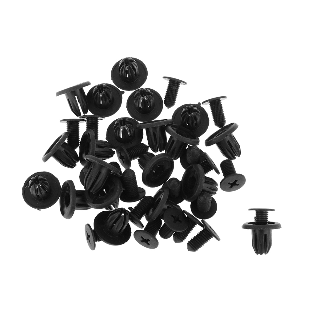 20pcs Shockproof Clips For Vehicles Rover 45 DYQ100230A / MG ZS /  Black