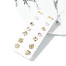 CWEEL 6 teile/sätze Baumeln Ohrringe Für Frauen Metall Ohrringe Mode Schmuck Vintage Erklärung Hochzeit Fringe Ohrringe(China)