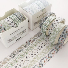 5 unids/set Pino niebla bala diario Washi cinta Scrapbooking DIY cinta adhesiva etiqueta adhesiva cintas de enmascarar Washitape(China)