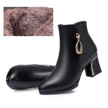 Aiyuqi Nữ Mùa Đông Giày Nữ Mùa Đông Giày Nhọn Chính Hãng Nữ Da Cao Cấp Đầm Giày Lớn Size 41 42 43(China)