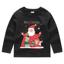 2019 크리스마스 어린이 의류 남성 소녀 스웨터 렌더링 unlined 상단 의류 어린이 t 연민 아기 긴 소매 자 켓(China)