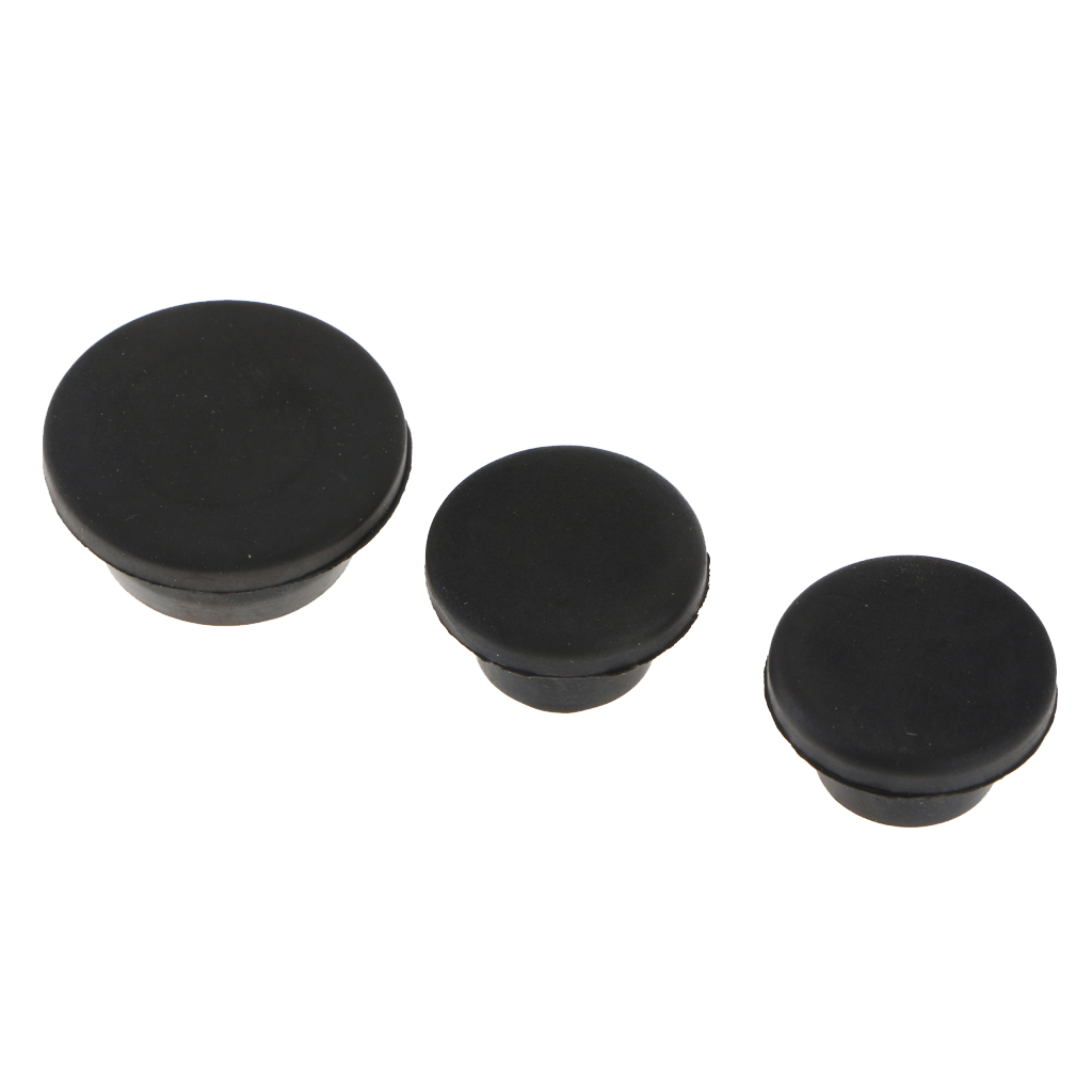 3 Pieces Tailgate Plug Set Tramp Stamp Spare Tire Carrier Delete PLASTIC Body Plugs for Jeep Wrangler JK 2007 - 2017