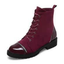Karinluna 2019 Marka tasarım büyük boy 43 yüksek kaliteli ayakkabılar kadın botları Martin kadın ayakkabısı ayakabı yarım çizmeler kadın(China)