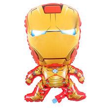5pcs Homem De Ferro Hulk Capitão América Superhero Spiderman Foil Balloons Tema Balony Hélio Decorações da Festa de Aniversário Da Bandeira do Aniversário de Látex menino Do Bebê Dos Miúdos Brinquedo Globos balões(China)