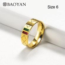 Baoyan Merek Terkenal Perhiasan Grosir Stainless Steel Perhiasan Set Kalung Cincin Anting-Anting Anting-Anting Pernikahan Perhiasan Set untuk Wanita(China)