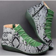 Mắt Cá Chân Giày Bốt Nữ Da PU Nữ Mùa Đông Túi Đeo Chéo Vintage Sang Trọng Punk Ấm Giày Boot Cổ Ngắn Phẳng Nữ Người Phụ Nữ botas Mujer(China)