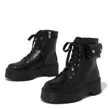 2020 büyük boy 43 dropship marka tasarım serin sokak kadın ayakkabı yarım çizmeler kadın botları Martin kadın ayakkabısı(China)