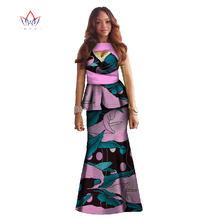 Африканская одежда с принтом комплект из двух предметов, платье Дашики Макси платье укороченный топ и юбка русалки большого размера в африк...(China)